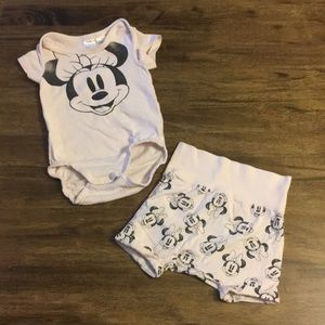 Baby Minnie Mouse Disney organic cotton outfit